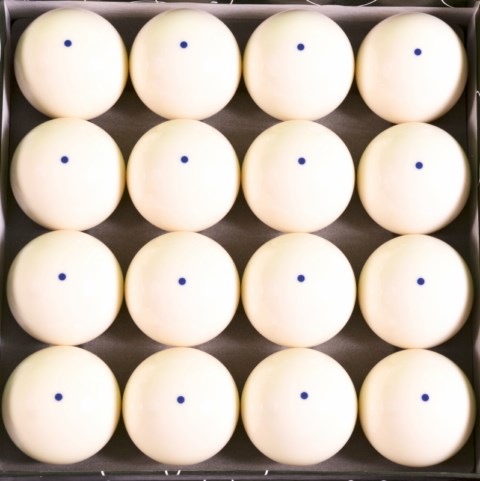 Box of 16 - Blue Dot Pool Cue Training Balls